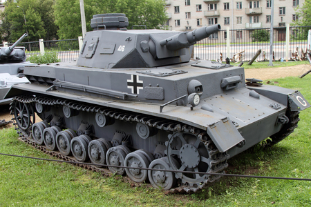 Moscow , Russia - July 19, 2017: Medium panzer PZ.IV (Т-4) (Germany) on grounds of weaponry exhibition in Victory Park at Poklonnaya Hill.