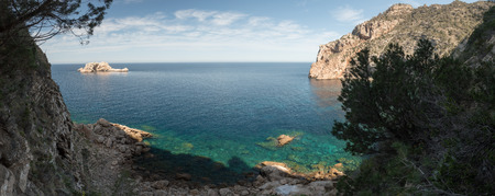 Beau paysage de la mer à Ibiza