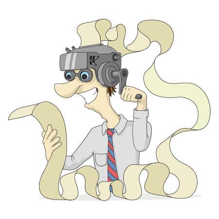 Prodigy: Maszyna pomysłów na głowy mężczyzny, czyta tekst z wydruku