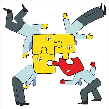 adverso:  Una ilustraci�n abstracta de la comunidad de negocios de comunicaci�n adversos y personas. Unirse a un nuevo miembro.