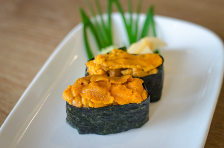 urchin: sea urchin eggs sushi