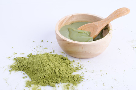 maccha: greentea powder and pudding