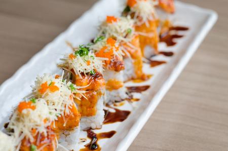 sushi roll maki - japanese food Stock Photo