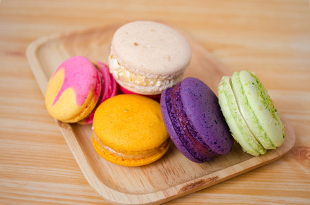 pistachio: colorful macarons Stock Photo