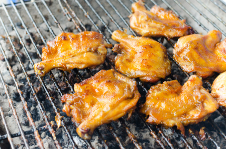 grilling chicken Stock Photo