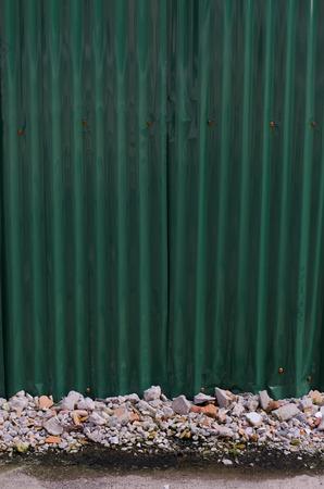 plat: rusty zinc plat wall