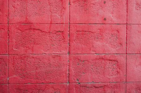 Pink color of brick wall