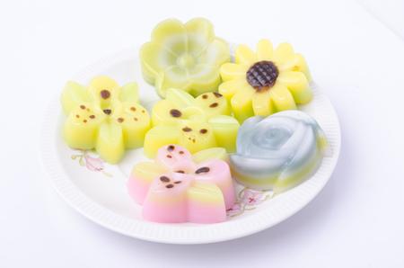 Layer Sweet Cake or Kanom Chan Stock Photo
