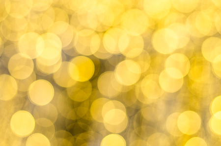 Abstract Decorative gold background with sparkling, Soft focus, greeting holiday card, festive frame,
