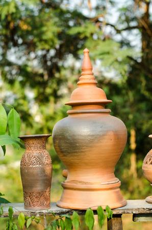 earthen jar in the garden
