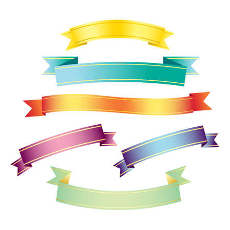 ombre: cute colourful ombre ribbon