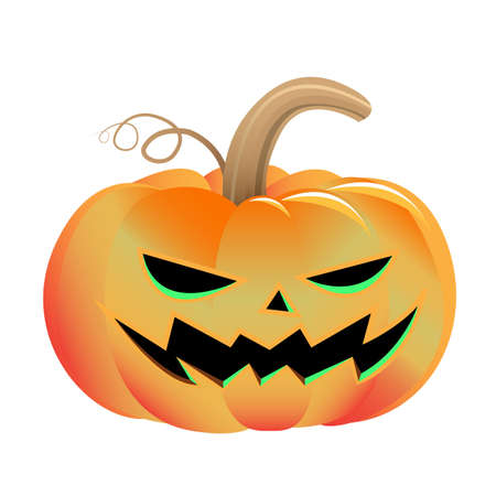 Scary Halloween Pumpkins Illustration