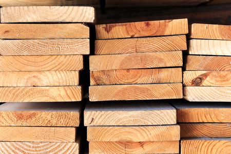 Stack of lumber wood