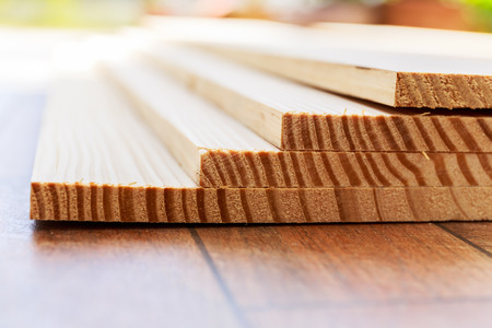 lumber: Stack of lumber wood