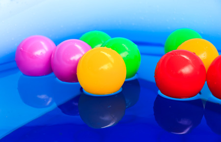 color balls: Color balls float on the pool