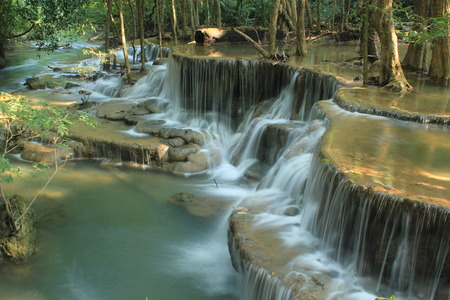 Huay Mae Kamin Waterfall. photo