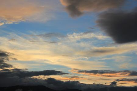 Evening sky. photo