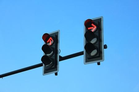 Red traffic lights photo