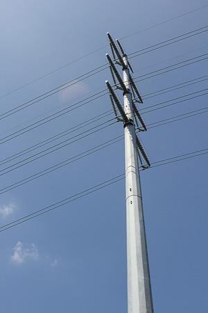 cielo azul: puesto de electricidad.