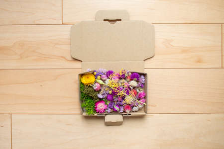Dried flowers made at home