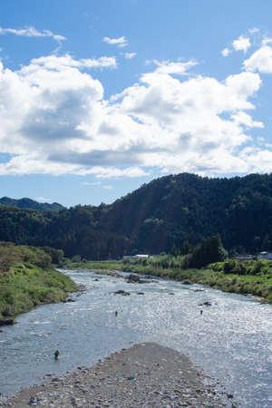 A very beautiful river in Mino City, Gifu Prefecture