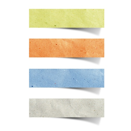 tag recycled paper craft stick on white background Stock Photo - 9648292