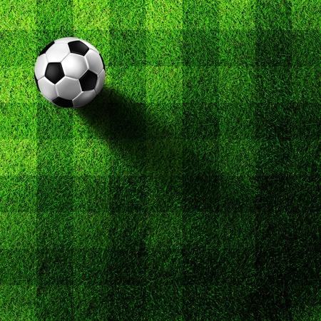 view wallpaper: soccer football on grass field