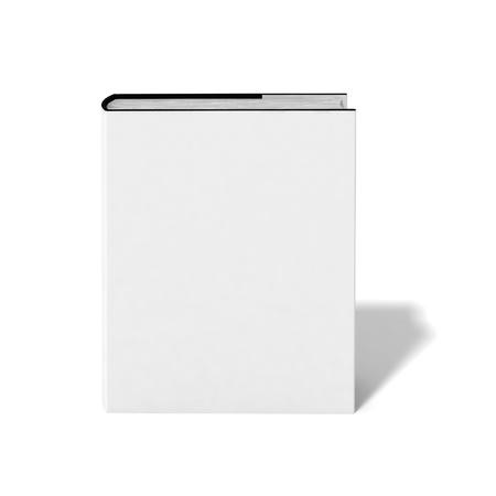 portadas de libros: Libro en blanco con tapa blanca sobre fondo blanco.