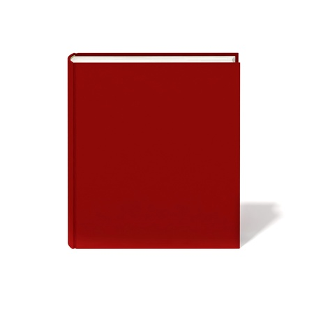 diary cover design: Blank book with red cover on white background.