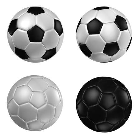 football goal: 3d rendering of a football. ( Leather texture )