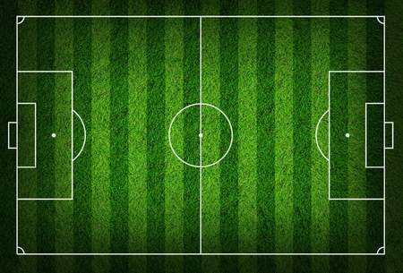 terrain foot: terrain de football herbe Banque d'images