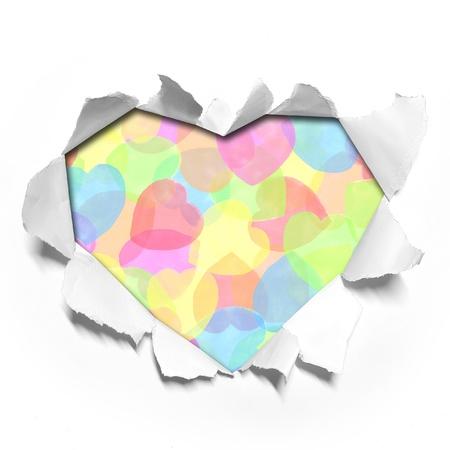 watercolor Heart shape paper photo