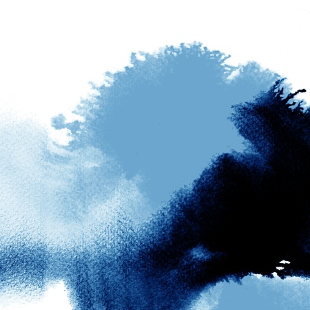 trace: Abstract blue watercolor hand painted background Stock Photo