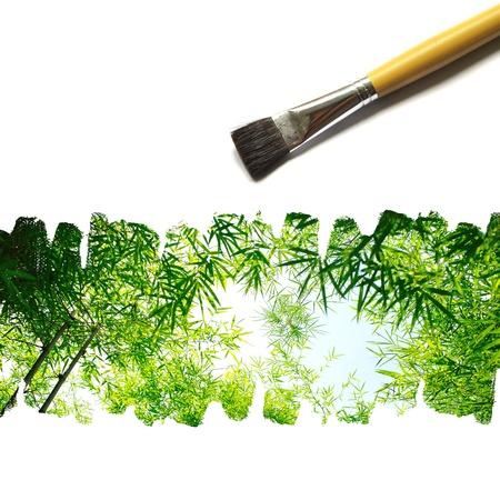 illustration of nature painted on white background illustration