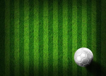 soccer football on grass field Stock Photo - 9702239