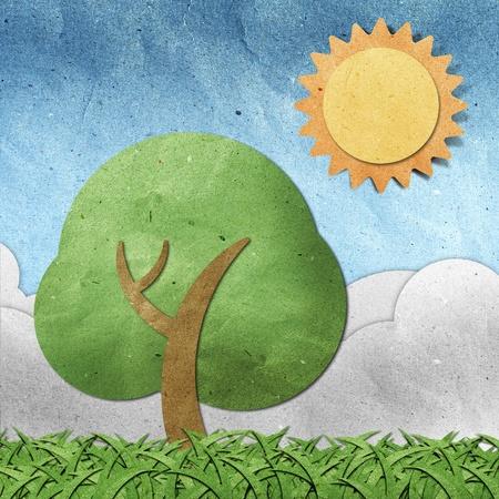 papel reciclado: vista de verano papel reciclado