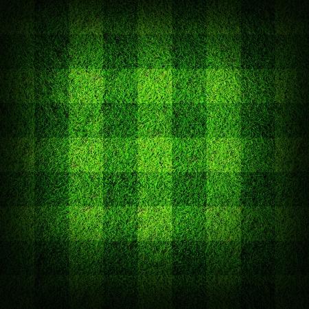 pasto sintetico: campo de f�tbol de hierba Foto de archivo