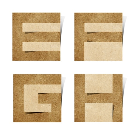Origami alphabet letters recycled paper craft photo