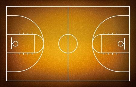cancha de basquetbol: cancha de baloncesto. Foto de archivo