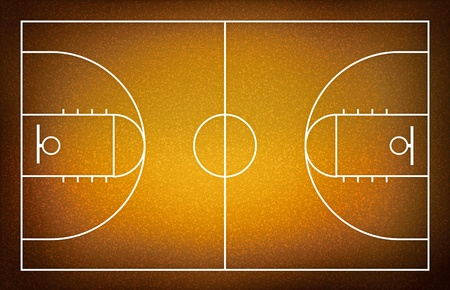 terrain de basket: terrain de basket-ball. Banque d'images