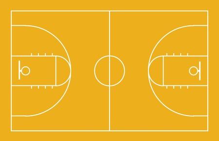 terrain de basket: Cour de basket-ball. Banque d'images