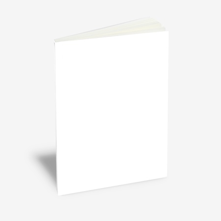 blank magazine: white book magazine Stock Photo