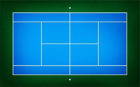 tennis court . Blue hard court photo