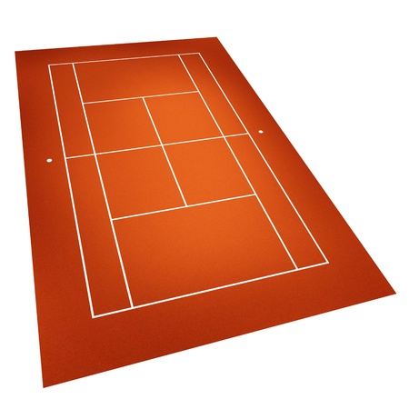 tennis court . Clay court photo