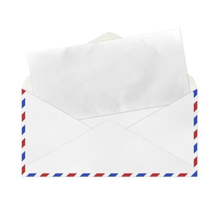 vintage envelope: Vintage envolvente en blanco. Foto de archivo