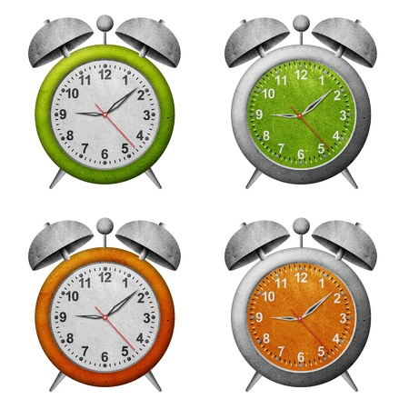 clock recycled paper craft  Stock Photo - 9850267