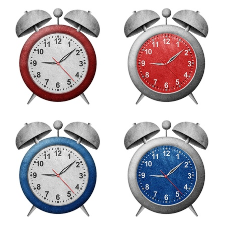 clock recycled paper craft Stock Photo - 9850266