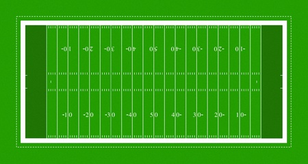 ball field: illustration of American football field. Stock Photo