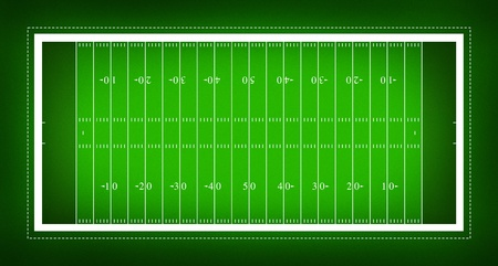 touchdown: illustration of American football field. Stock Photo