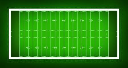 jugadores de futbol: Ilustraci�n del campo de f�tbol americano.